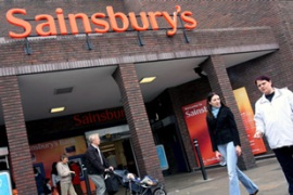 J Sainsbury shares fell by as much as 20 per cent in early Monday trading [EPA]