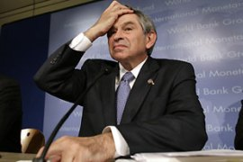 Wolfowitz is fighting to keep his job [Reuters]