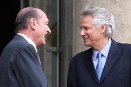 Chirac, left, and de Villepin are both stepping down [AFP]