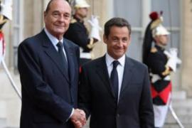 Sarkozy, right, succeeded Chirac as the French president in May