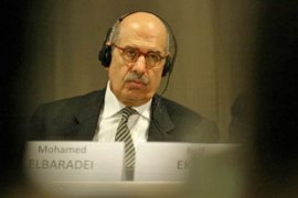 "ElBaradei said he had seen no evidence Iran was trying to ""weaponise"" nuclear material [AFP]"