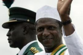 Yar Adua's swearing-in ceremony was avoided by many Nigerian civilians [AFP]