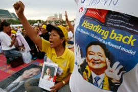 The government had previously warned Thaksin not to return, saying it could spark protests [Reuters]