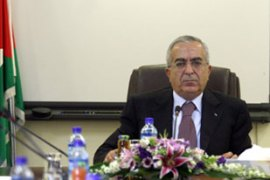 Salam Fayyad stays as the prime minister [AFP]