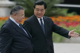 Talabani is the first Iraqi president to visit China since the two countries established ties [Reuters]