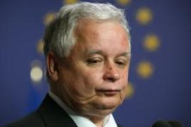 Lech Kaczynski, the Polish president, is standing firm at the EU summit in Brussels [EPA]