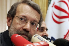 Larijani met El Baradei on Sunday and issued the invitation [AP]
