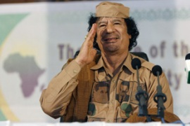 "Libyan leader Muammar Gaddafi has declared himself a ""soldier for Africa"" [Reuters]"