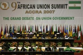 The opening of the summit in Accra, Ghana's capital,  was beset by technical problems [AFP]