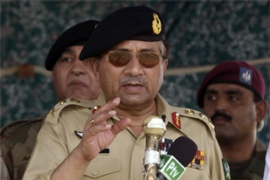 Musharraf says he will shed his army uniform after getting re-elected [AFP]