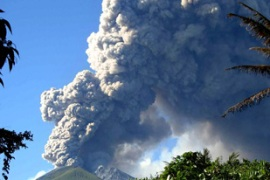 Gamkonora has sent huge clouds of hot ash high into the sky [AFP]