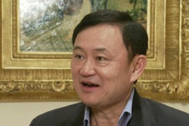 Thaksin says he can prove his innocence only under a democratic government