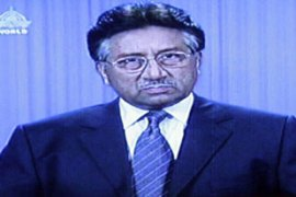 Musharraf addressed the nation on Thursday, his first since the mosque standoff [AFP]