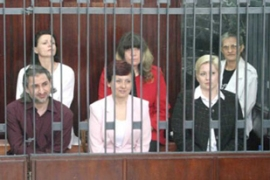 The six have been behind bars for more than eight years