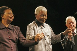 Mandela, a Nobel peace prize winner, spent 27 years in prison during the fight against apartheid [Reuters]