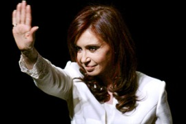 Cristina Kirchner wants to stop being first lady and start being president [EPA]