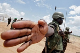 Darfur is currently patrolled by an African Union force [AFP]