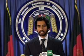 Izmarai Bashari, Afghan interior ministry spokesman, said little about government negotiations [AFP]