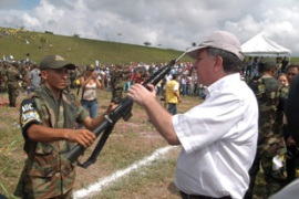 About 31,000 paramilitaries have decommissioned their arms under the peace deal [EPA]