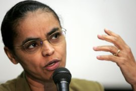 "Marina Silva said the figures reflected ""a new environmental governance"" [AFP]"