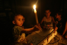 About 600,000 people were affected by blackouts in the Gaza Strip [AFP]