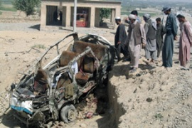 Roadside bomb is a favoured Taliban tactic against both Western soldiers and Afghan officials [AFP]