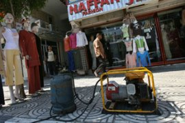 Many businesses in Gaza City are now operating off personal electricity generators [AFP]