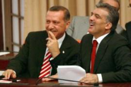 Gul, right, is the candidate of Recep Tayyip Erdogan, Turkey's prime minister and AKP leader [AFP]