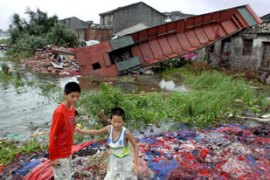 More than 4.5 million people have been affected by Typhoon Sepat in three Chinese provinces [AFP]