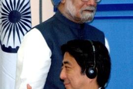 Abe is hoping the visit will boost business ties between India and Japan [EPA]