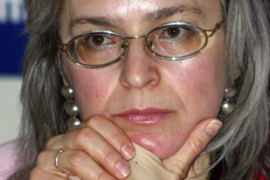 Politkovskaya was a vocal critic of Putin and his government's Chechnya policy [File: AFP]