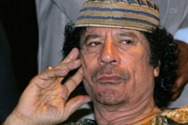 Gaddafi has in the past proclaimed himself the 'king of kings' among the traditional kings of Africa [AFP]