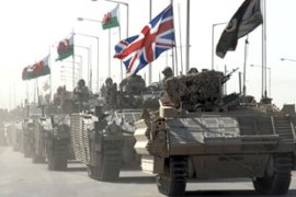 About 500 British soldiers withdrew to a vast airbase on the outskirts of Basra in September [Reuters]
