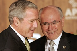 Howard, right, is a close ally of Bush and supporter of US policy in Iraq [Reuters]