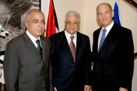 Salam Fayyad, left, also attended the discussions [AFP]