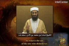 Bin Laden praised a 9/11 hijacker in a videoreleased this month AFP/Intelcentre