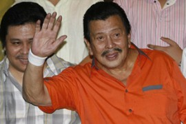 Estrada says the charges against him were trumped up by political opponents [Reuters]