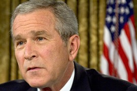 Bush appears to have adopted the Israeli position on Iran's nuclear programme [AFP]