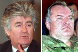 Karadzic, left, and Mladic are wanted on genocide charges [EPA]