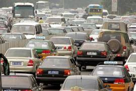 Traffic jams are common in Chinese cities [AP]