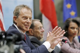 Blair said one of this year's aims would be to get a sense of what a Palestinian state could look like [EPA]