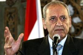 Berri announced the adjournment after meeting deputies from the ruling camp [AFP]