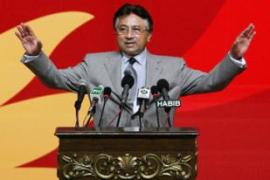 Musharraf says he will step down as head of the army if re-elected [EPA]