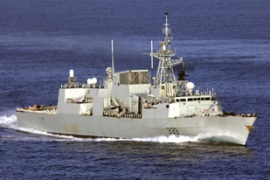 The Canadian navy said it was trying to locate people believed missing [AP]