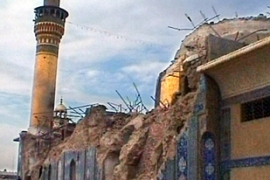The mosque in Samarra was badly damaged in two separate attacks [AP]