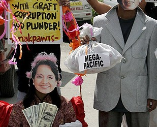 Arroyo has been facing growing allegations of corruption in her government [EPA]
