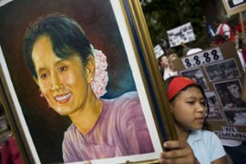 Aung San Suu Kyi has been under house arrest for most of the past 14 years [AFP]