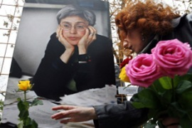 Colleagues believe Politkovskaya's murder was linked to her reporting on abuses by Russian troops [AFP]