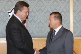 Vikto Yanukovych, left, wants closer ties with Russia [AFP]