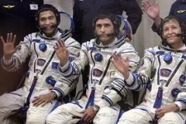 "Sheikh Muszaphar, left, said the mission was ""a giant leap"" for all Malaysians [AFP]"